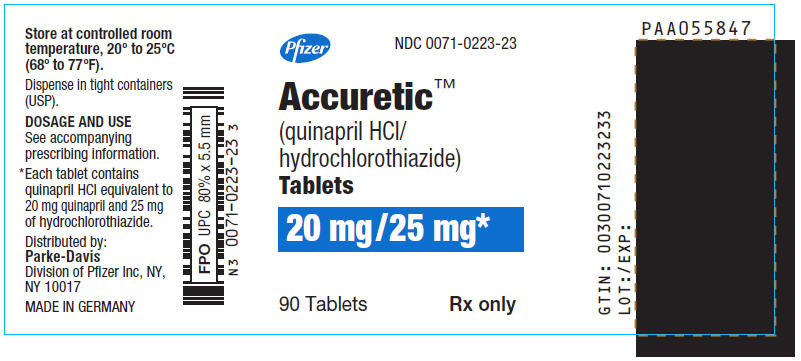 PRINCIPAL DISPLAY PANEL - 20 mg/25 mg Tablet Bottle Label